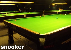 5 snooker tables in a dedicated room