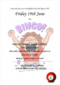 Bingo Penn Wolverhampton 19th June